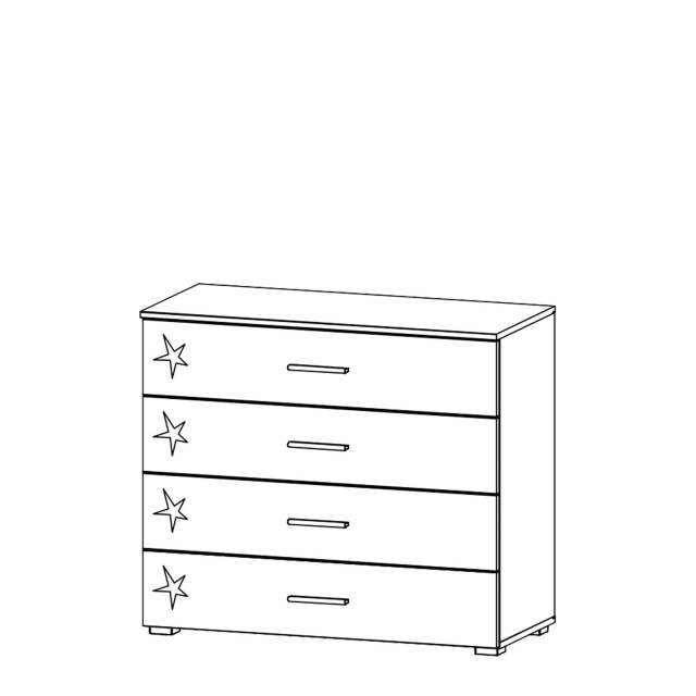 Cosmo - 4 Drawer Wide Chest