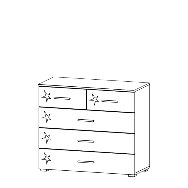 Cosmo - 2+3 Drawer Chest