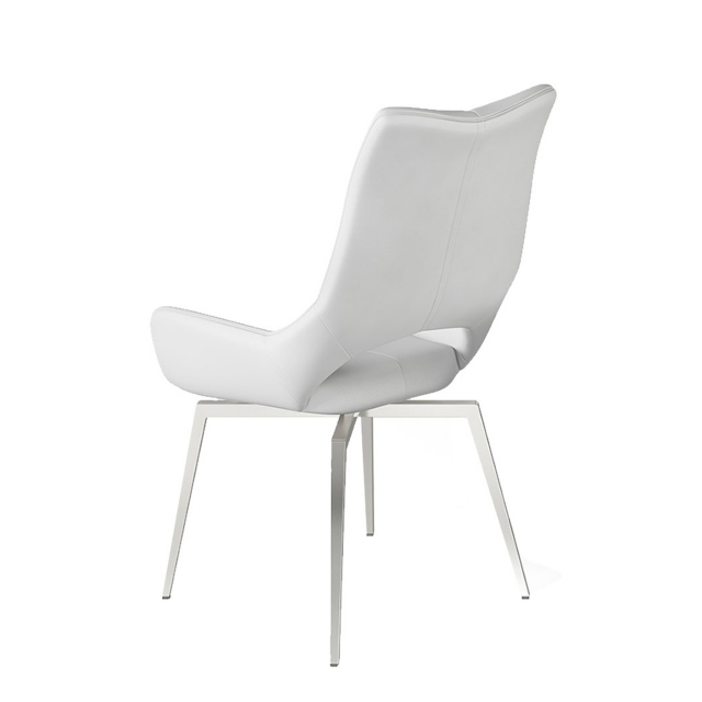 Aristo - Swivel Dining Chair In Grey PU