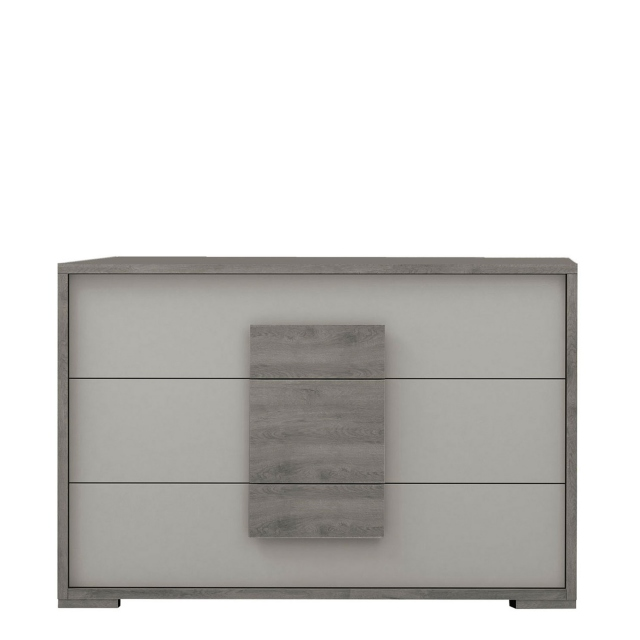 Amelia - Chest of 3 Drawers Titanio/Silver Ash