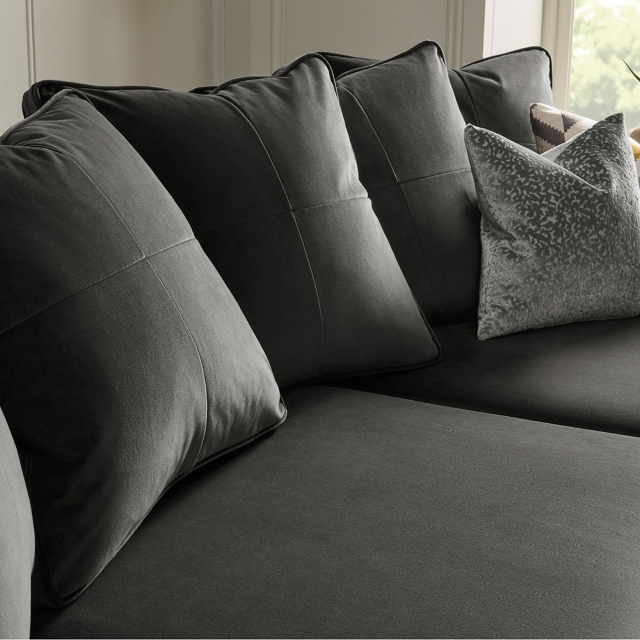 Colorado - Pillow Back Large Chaise Sofa LHF Chaise With 3 Seat 1 Arm RHF