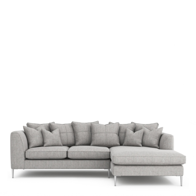 Colorado - Pillow Back Small Chaise Sofa 3 Seat 1 Arm LHF With Chaise RHF In Grade C Fabric