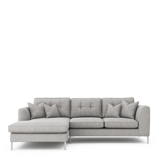 Colorado - Standard Back Small Chaise Sofa LHF Chaise With 3 Seat 1 Arm RHF In Grade B Fabric