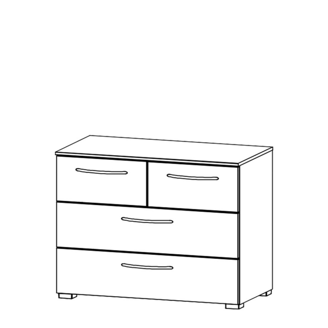 Charlton - 80cm 4 Drawer Chest High Polish Front