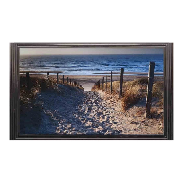 Beach II Liquid Art Metallic 3 Step Frame 114x74