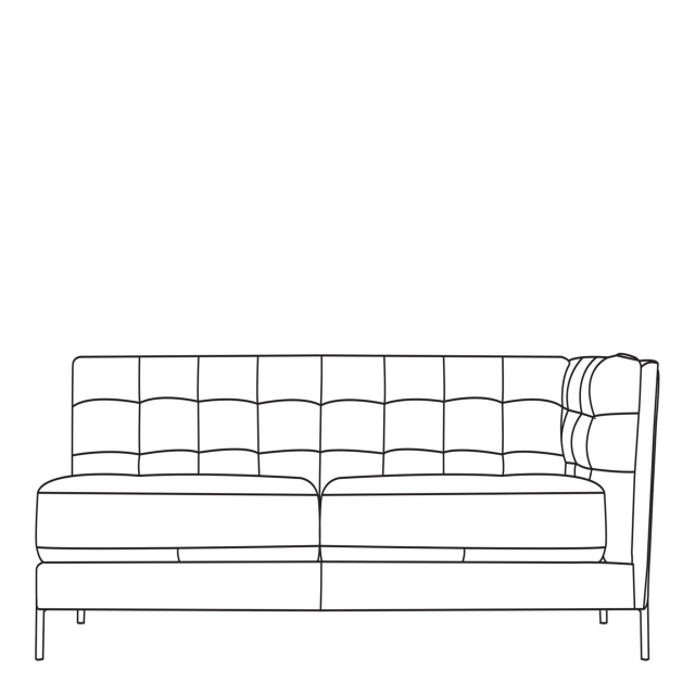 Mezzo - 3 Seat Sofa 1 RHF Arm In Leather