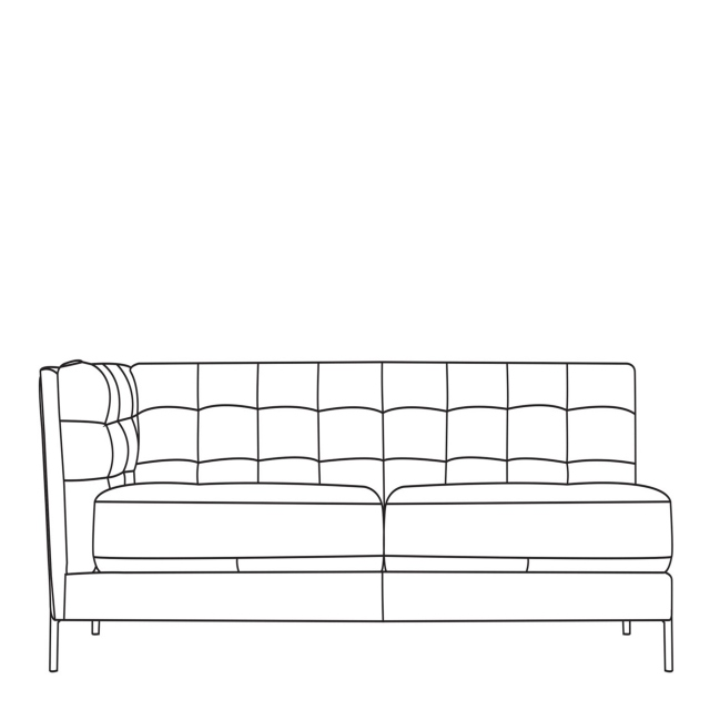 Mezzo - 3 Seat Sofa 1 LHF Arm In Leather
