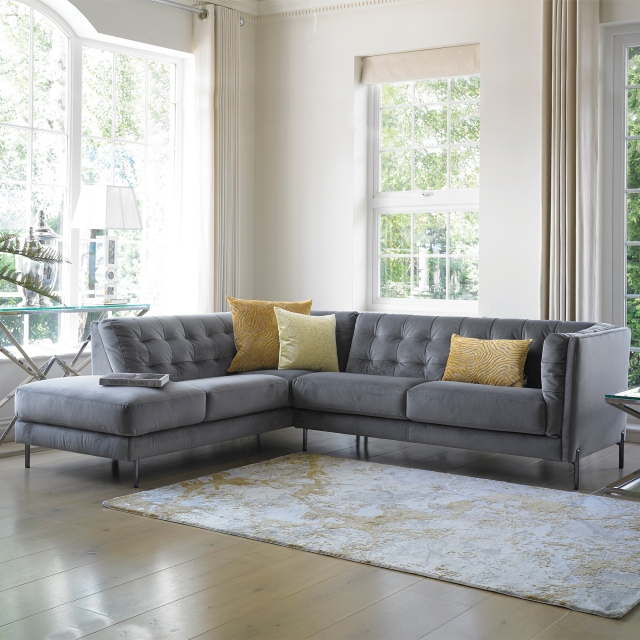 Mezzo - 3 Seat Sofa 1 LHF Arm With Chaise End RHF In Cat BSF20 Fabric