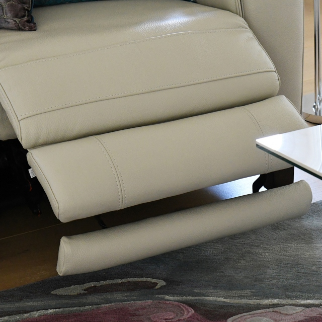 Caserta - 1 Seat Sofa With Power Recliner LHF Arm In Leather