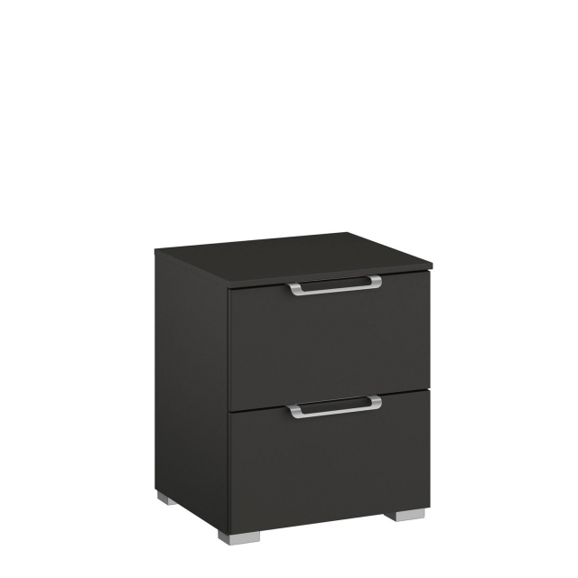 Strada - 40cm 2 Drawer Bedside Table Colour Glass Front