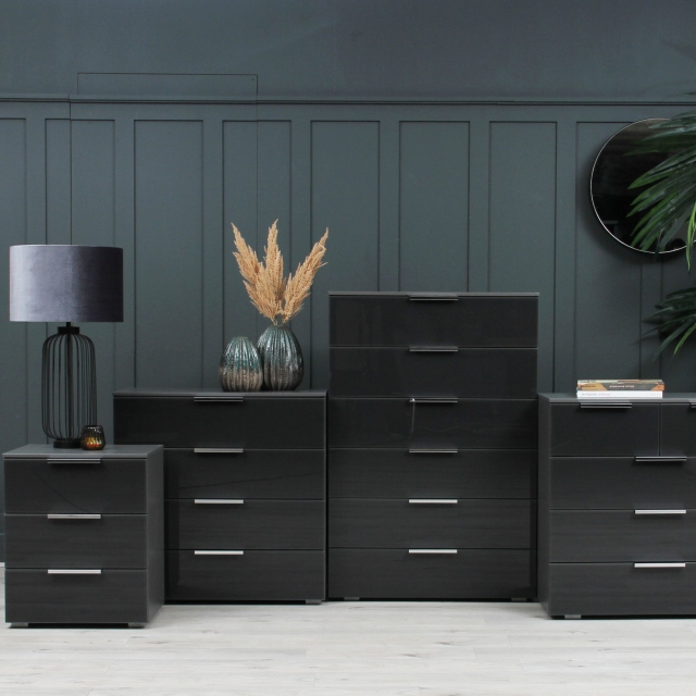 Strada - 80cm 1 Door 3 Drawer Chest
