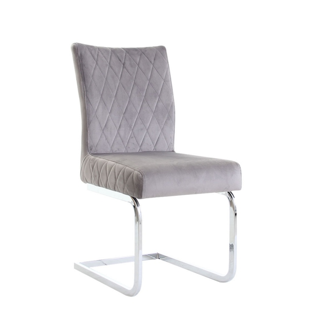 Mason - Dining Chair In Blue Velvet