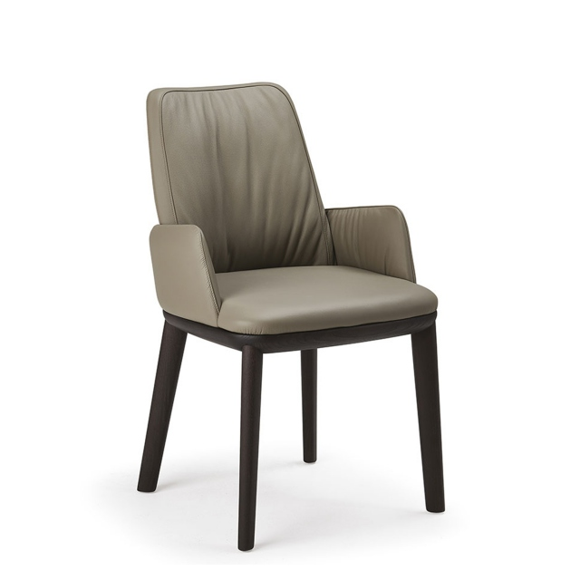 Cattelan Italia Belinda - Dining Chair With Arms In Synthetic Leather