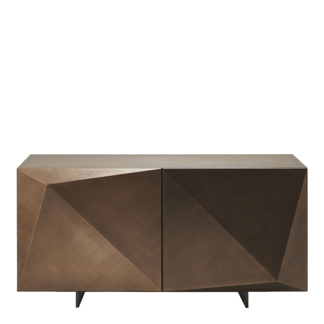 Cattelan Italia Kayak - 2 Door Sideboard In Brushed Bronze With OP69 Titanium Feet