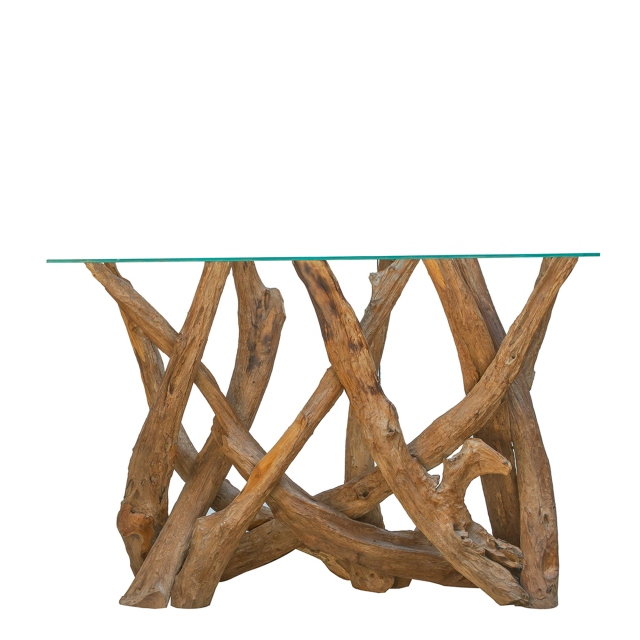 Twiggy - Console Table With Glass Top