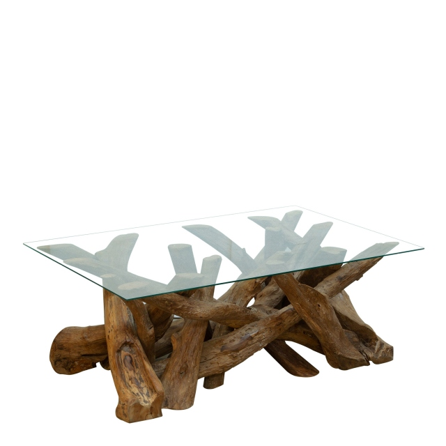 Twiggy - Coffee Table With Glass Top