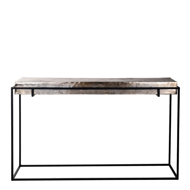 Fairway - Console Table Champagne Finish