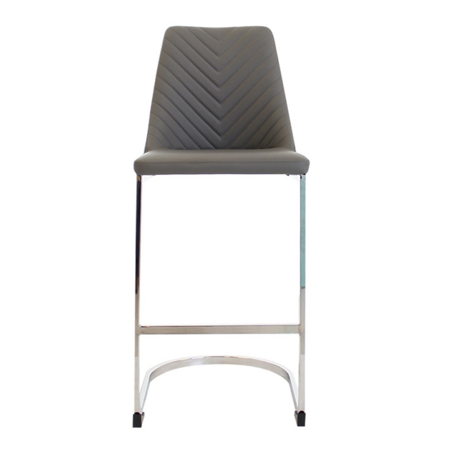 Macy - Barstool In Dark Grey PU