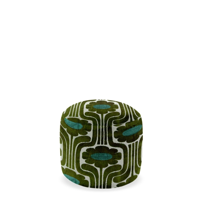 Orla Kiely Conway - Small Footstool In Fabric
