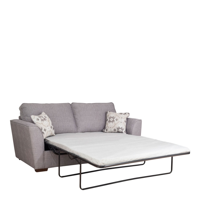 Dallas - Standard Back 3 Seat Sofabed (140cm) With Standard Mattress In Fabric Grade D