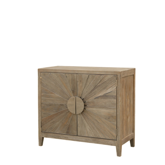 Georgetown - Small Sideboard Smoky Grey/Shiny Steel