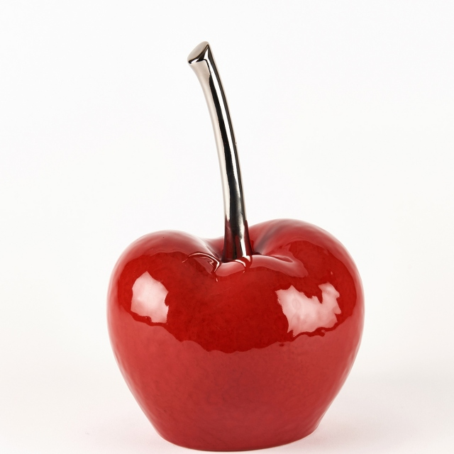 Glace Red Cherry Ornament