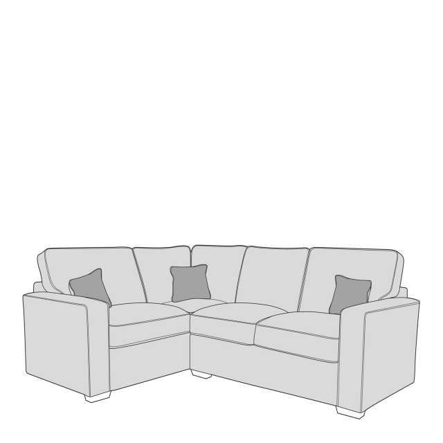Layla - Standard Back 1 Seat Sofa LHF Arm, Corner With 2 Seat Sofa RHF Arm In Fabric Grade D