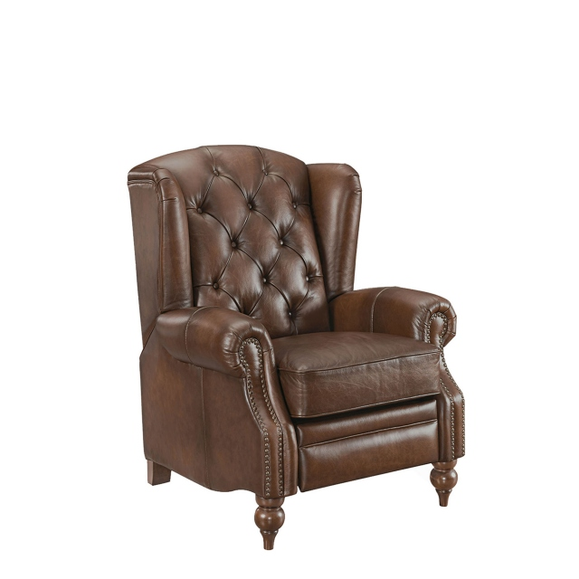 Churchill - Push Back Wing Chair In Leather