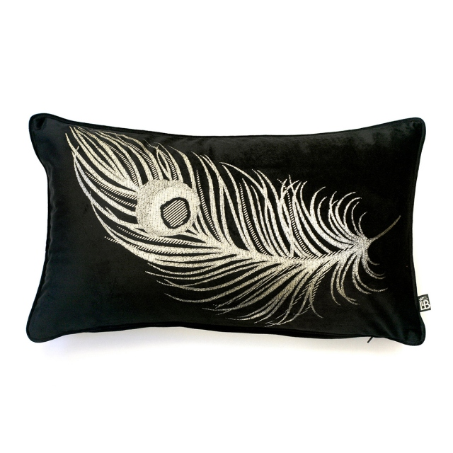 Laurence Llewelyn Bowen Dandy Cushion Black/Gold