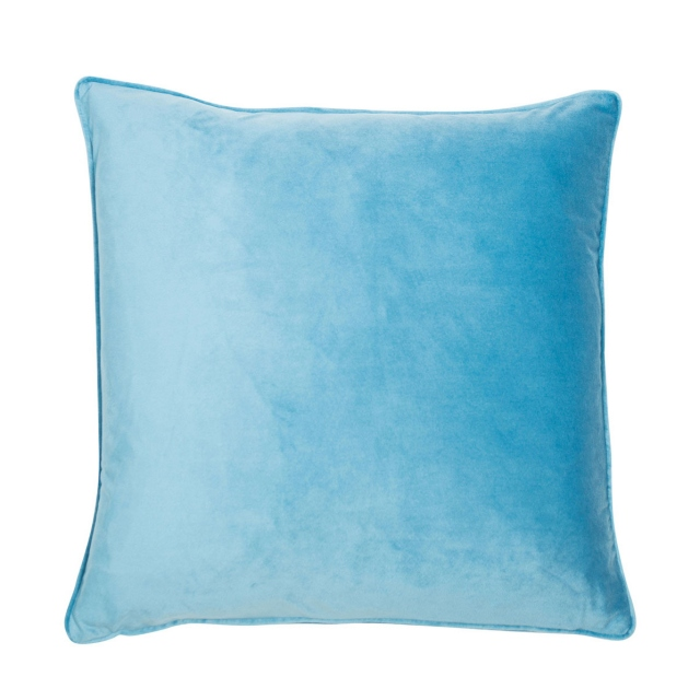 Regal Velvet Cushion Turquoise