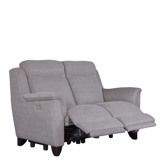 Parker Knoll Manhattan - 2 Seat Sofa Rechargeable Motor Double Power Recliners In Fabric