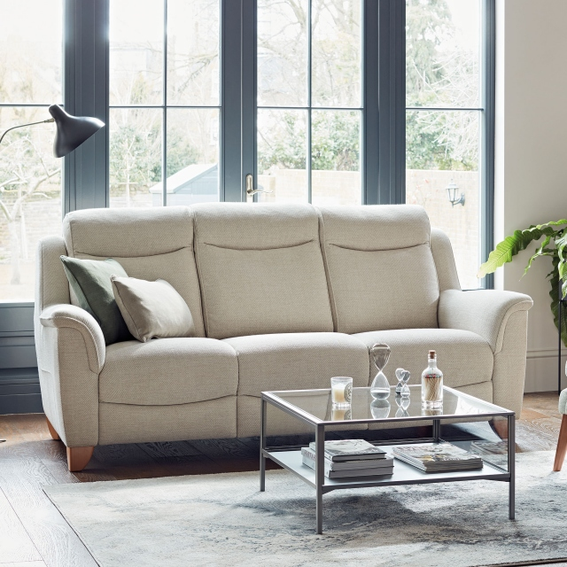Parker Knoll Manhattan - 3 Seat Sofa Rechargeable Motor Double Power Recliners In Fabric