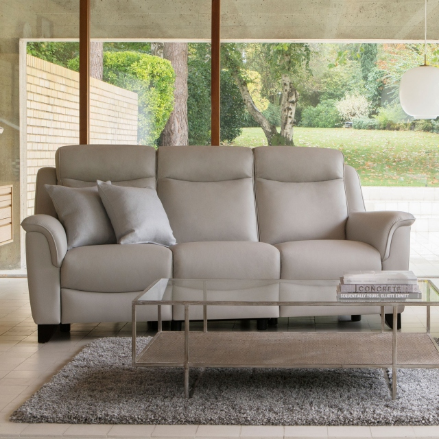 Parker Knoll Manhattan - 3 Seat Sofa Rechargeable Motor Double Power Recliners In Leather