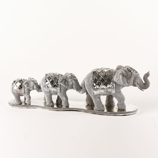 Glamour Trio of Elephants Silver