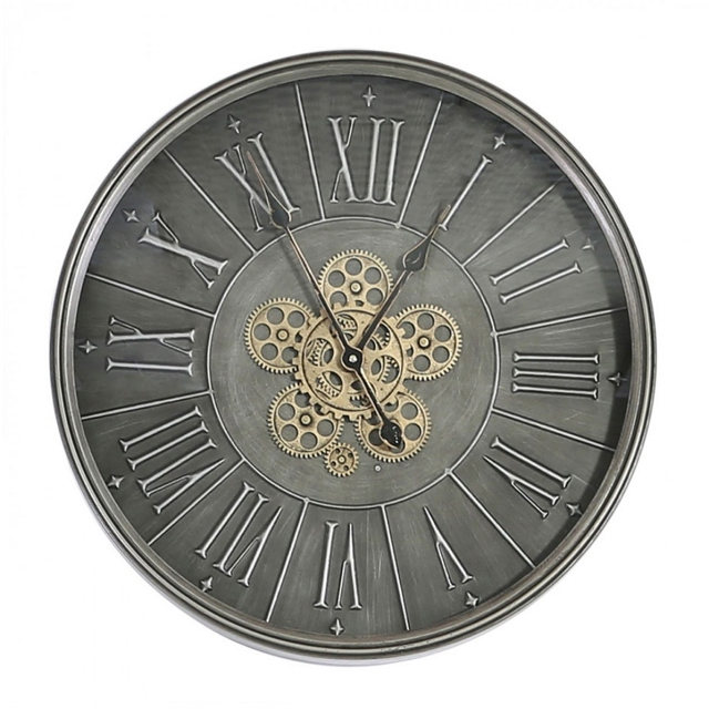 Urbane Gears Wall Clock - Dark Grey