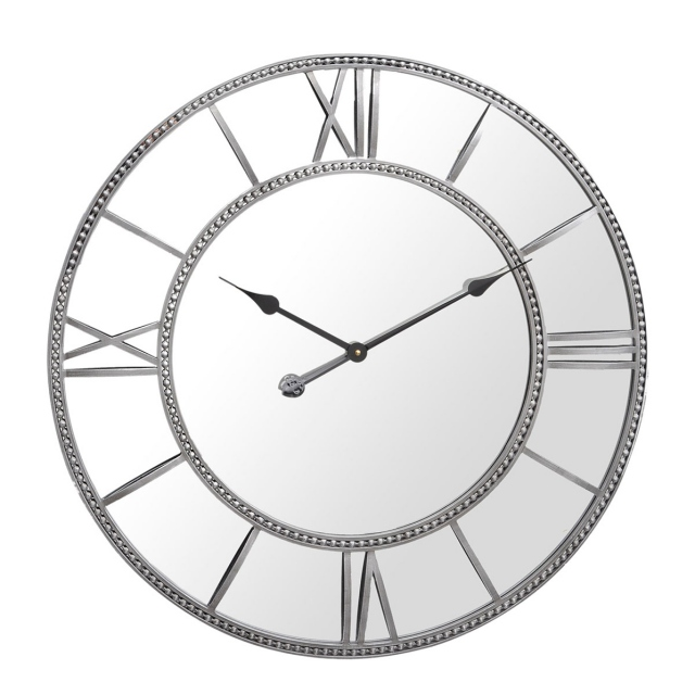 Esme Round Wall Clock - Mirrored