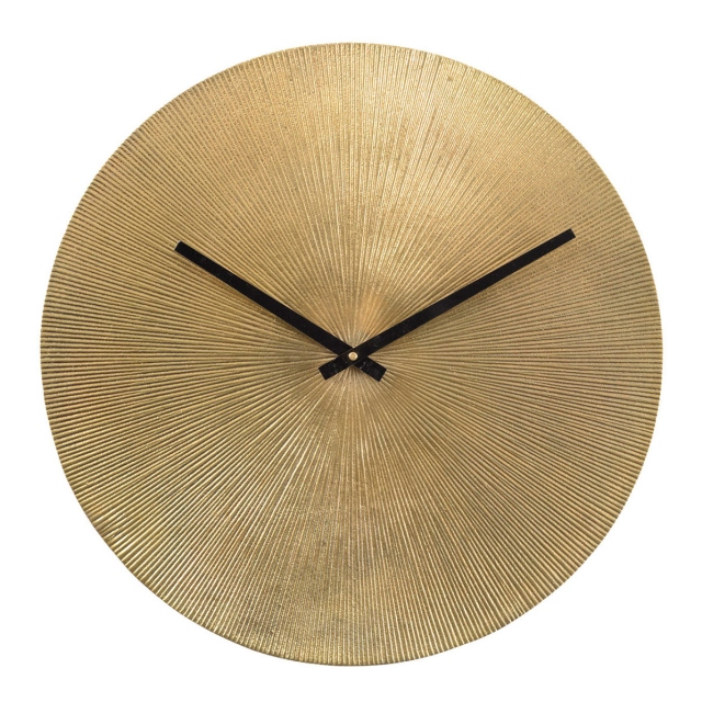 Starburst Wall Clock - Antique Gold