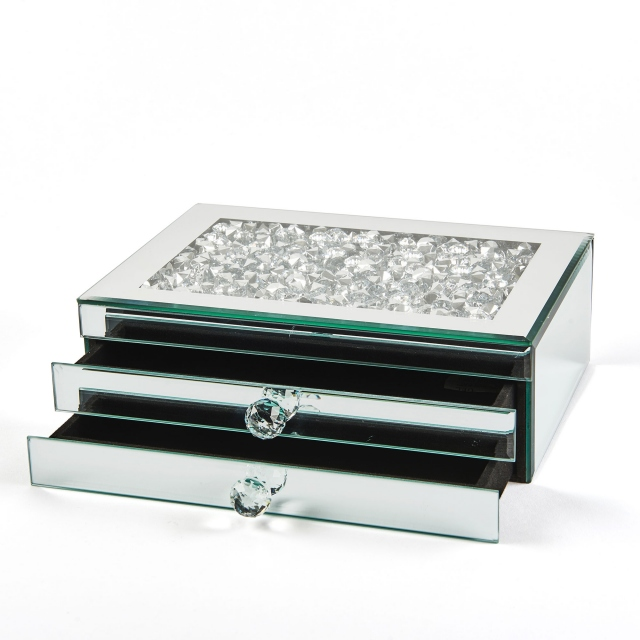 Halley Jewellery Box 2 Drawer - Silver
