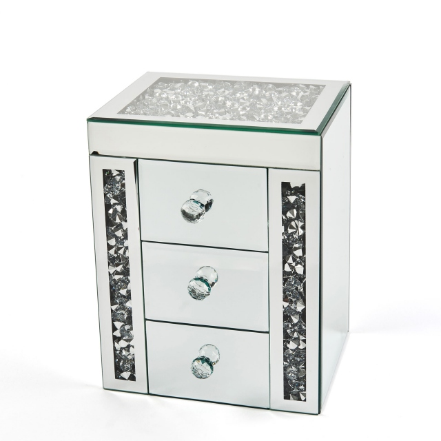 Halley Jewellery Box 3 Drawer - Silver
