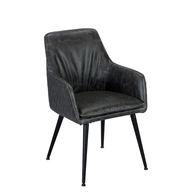 Abbey - Armchair In Grey PU
