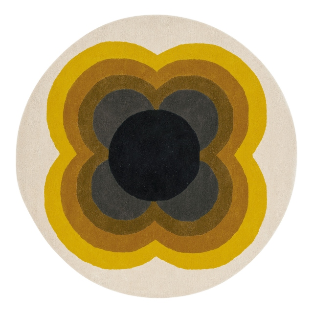 Orla Kiely Rug Sunflower Yellow 060006