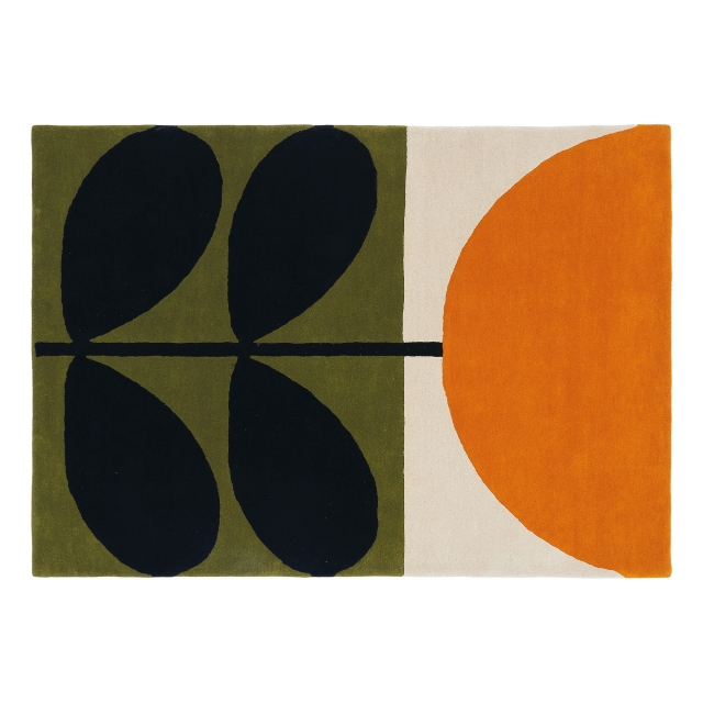 Orla Kiely Rug Stem Black 059803