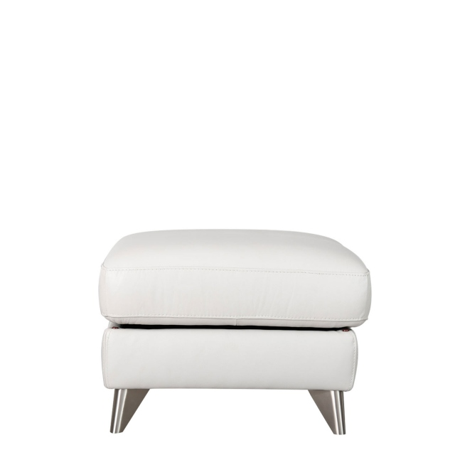 Lecce - Footstool In Leather Cat 18 C/Split
