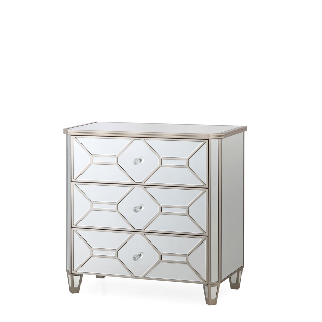 Ruby - 3 Drawer Mirrored Chest
