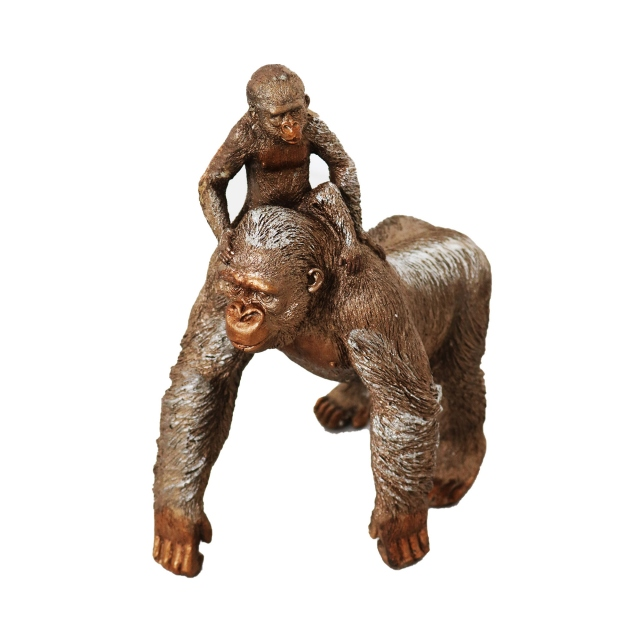 Great Ape & Child Standing - Bronze