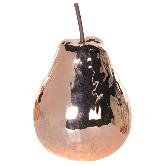 Ceramic Pear  - Hammered Copper