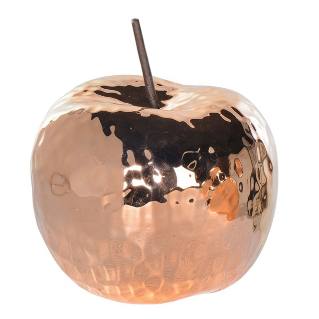 Hammered Copper - Ceramic Apple