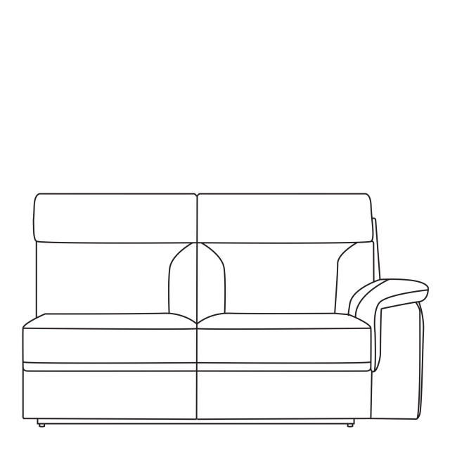 Sorrento - 2.5 Seat Sofa 1 Arm RHF In Leather