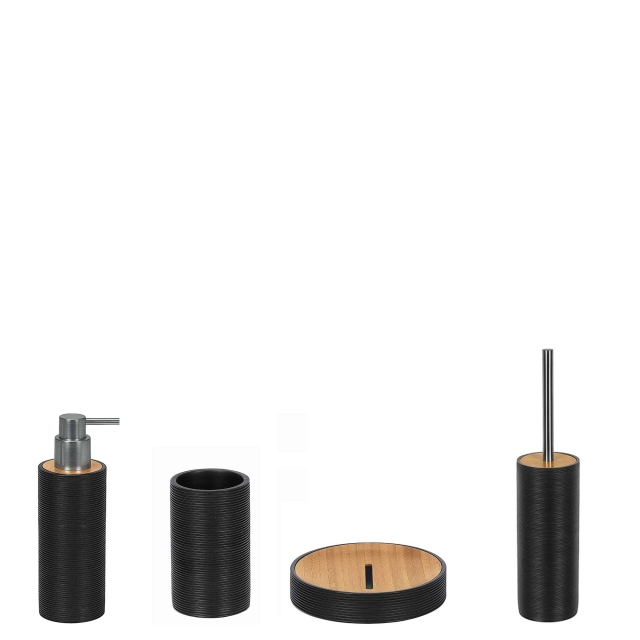 Kyoto Soap Dispenser Black and Bamboo