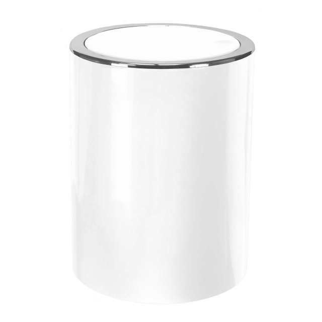Tap Mini Swingtop Bin White
